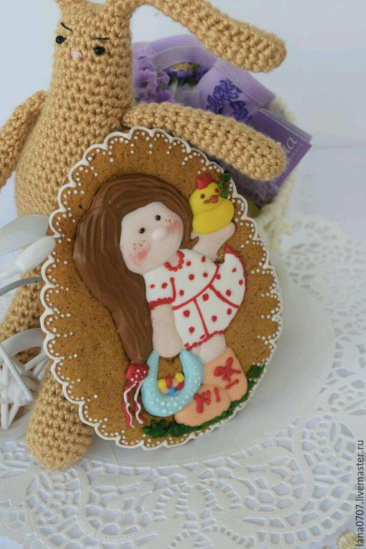 Персональные подарки ручной работы. Ярмарка Мастеров - ручная работа. Купить Пасхальная уточка с девочкой.. Handmade. Для детей