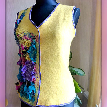 Clothing handmade. Livemaster - original item Felted vest
