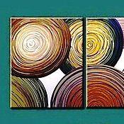 Картины и панно ручной работы. Ярмарка Мастеров - ручная работа Яркая модульная абстракция. Handmade.