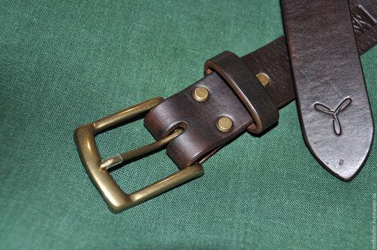 Пояса, ремни ручной работы. Ярмарка Мастеров - ручная работа. Купить Ремень из кожи аргентинского буйвола 38 мм.. Handmade.