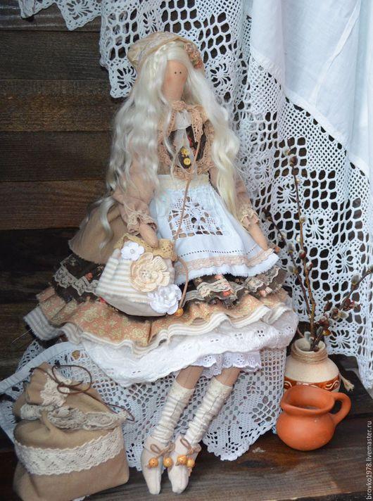 Куклы Тильды ручной работы. Ярмарка Мастеров - ручная работа. Купить Литиция -белокурая девочка из европейской провинции. Handmade. Бежевый