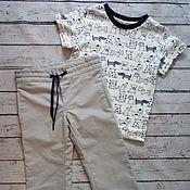 Штаны ручной работы. Ярмарка Мастеров - ручная работа Комплект штаны с футболкой. Handmade.