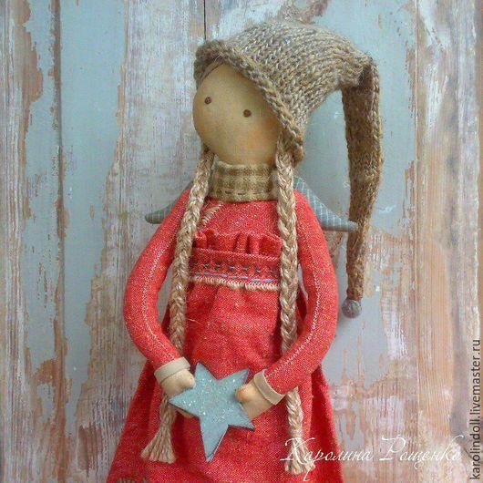 Коллекционные куклы ручной работы. Ярмарка Мастеров - ручная работа. Купить Звезда декабря. Handmade. Ярко-красный, подарок на рождество