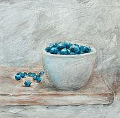 Картины и панно ручной работы. Ярмарка Мастеров - ручная работа Голубички извольте. Handmade.