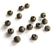 Beads1 handmade. Livemaster - original item Beads metallic bronze 3mm. Handmade.