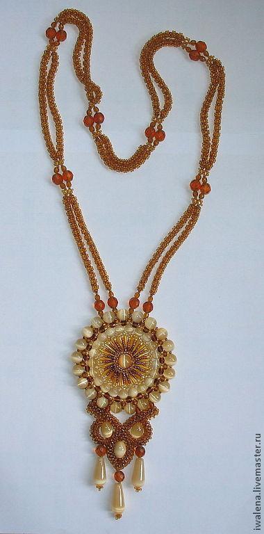 Necklaces & Beads handmade. Livemaster - handmade. Buy Gaitan Sun.Handmade, jewellery, designer jewelry