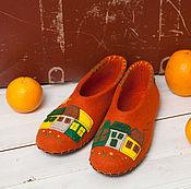 """Обувь ручной работы. Ярмарка Мастеров - ручная работа Тапочки """"Загород Style"""". Handmade."""