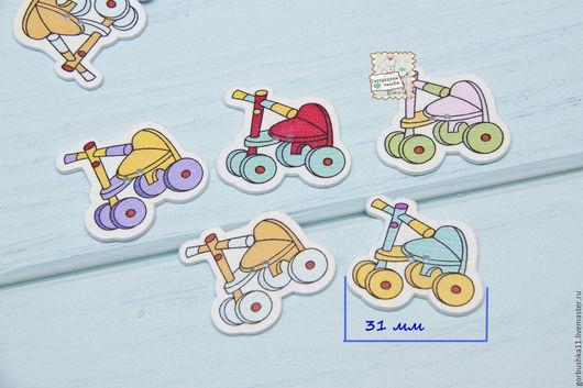 Фото Пуговица деревянная велосипед. Товары для творчества. Горбушкины товары.