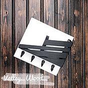 Для дома и интерьера handmade. Livemaster - original item Wall shelf black and white. Handmade.