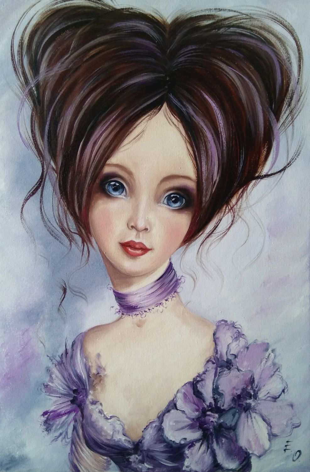 Oil painting Lilac fairy, Pictures, Zhitomir,  Фото №1