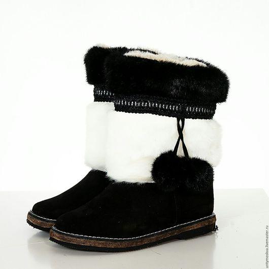 Обувь ручной работы. Ярмарка Мастеров - ручная работа. Купить Унты женские ( войлочная подошва ) уж18. Handmade.
