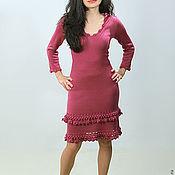 Одежда ручной работы. Ярмарка Мастеров - ручная работа Платье вязаное 4484. Handmade.