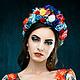 """Диадемы, обручи ручной работы. Ярмарка Мастеров - ручная работа. Купить Ободок с цветами """"Риитта"""". Handmade. Разноцветный, ободок с цветами"""