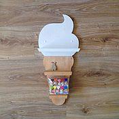 """Для дома и интерьера ручной работы. Ярмарка Мастеров - ручная работа Полка """"Ice cream"""". Handmade."""