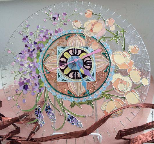 """Часы для дома ручной работы. Ярмарка Мастеров - ручная работа. Купить Часы настенные """"Летний сад"""". Handmade. Часы настенные"""