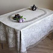 Для дома и интерьера handmade. Livemaster - original item Oval tablecloth