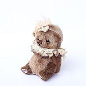 Куклы и игрушки ручной работы. Ярмарка Мастеров - ручная работа Амели мишка тедди 14 см. Handmade.