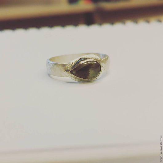 """Кольца ручной работы. Ярмарка Мастеров - ручная работа. Купить Серебряное кольцо """"Лесная мята"""". Handmade. Серебряный, пренит натуральный"""