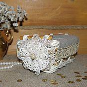 Для дома и интерьера ручной работы. Ярмарка Мастеров - ручная работа Корзина плетеная декорированная эко-шик 16х11см. Handmade.