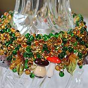 Украшения handmade. Livemaster - original item Bracelet lampwork Mushroom time. Handmade.