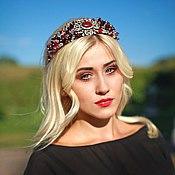 Украшения handmade. Livemaster - original item Bezel, didema, headband, crown style, Dolce Gabbana. Handmade.