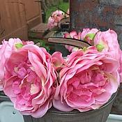 Украшения ручной работы. Ярмарка Мастеров - ручная работа Ободок с розовыми пионами. Handmade.