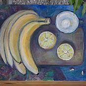 Картины ручной работы. Ярмарка Мастеров - ручная работа Натюрморт с фруктами. Handmade.