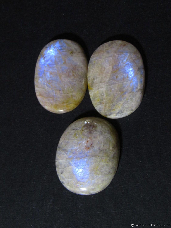Moonstone (moonstone) three of a kind cabochons, Cabochons, St. Petersburg,  Фото №1