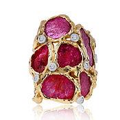 Украшения handmade. Livemaster - original item Gold ring with rubies German Kabirski. Handmade.
