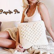 """Для дома и интерьера ручной работы. Ярмарка Мастеров - ручная работа Интерьерная подушка с сердечком """"Любовь"""". Handmade."""