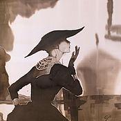 Аксессуары ручной работы. Ярмарка Мастеров - ручная работа Одри .платок.batik. silk100%. Handmade.