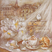Картины и панно handmade. Livemaster - original item Breakfast in Paris. Handmade.