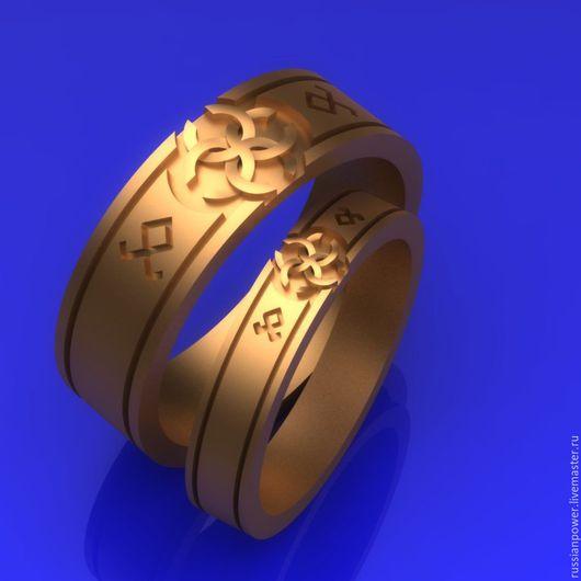 Кольца ручной работы. Ярмарка Мастеров - ручная работа. Купить обручальные кольца Свадебник с Эрдой. Handmade. Серебряный, славянские символы