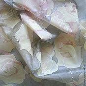"""Аксессуары ручной работы. Ярмарка Мастеров - ручная работа Шарф """"Чайные розы"""". Handmade."""
