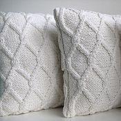 Для дома и интерьера handmade. Livemaster - original item Milk knitted pillow decorative handmade. Handmade.