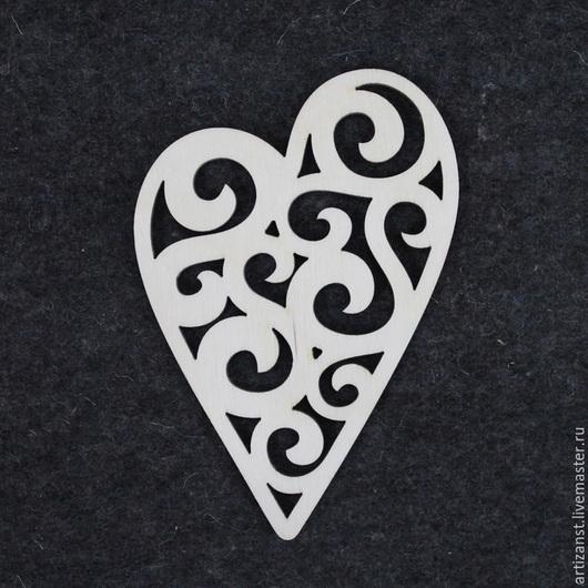 Декупаж и роспись ручной работы. Ярмарка Мастеров - ручная работа. Купить Арт. 13240 Сердце резное 1. Handmade. Белый