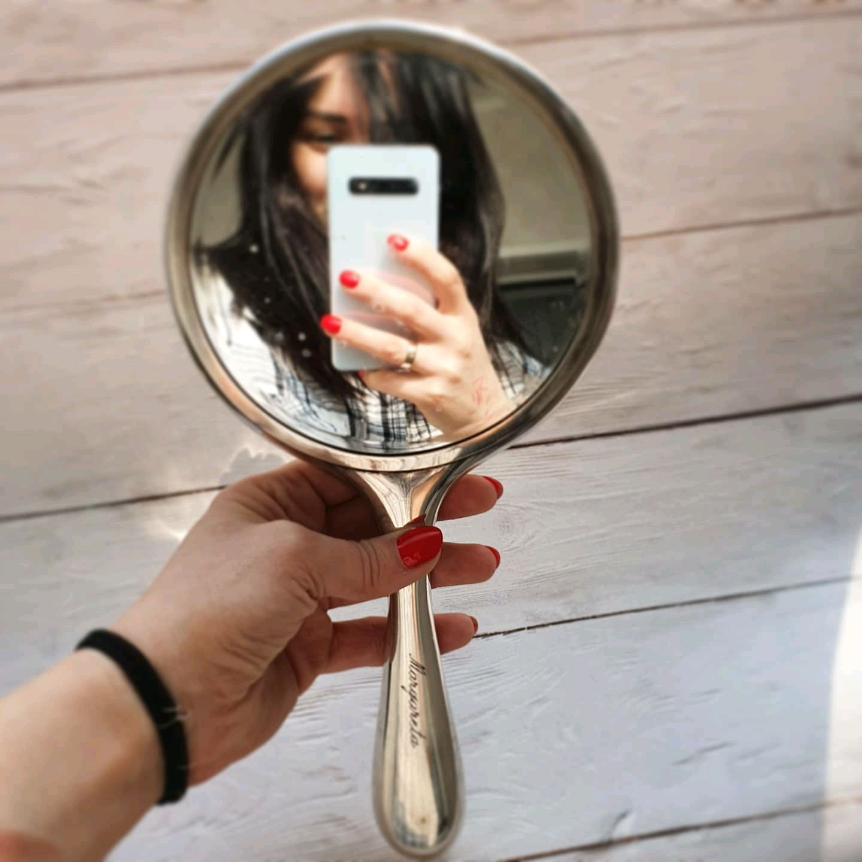 Винтаж: Большое ручное зеркало, Предметы интерьера винтажные, Москва,  Фото №1