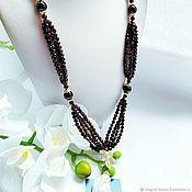 Украшения handmade. Livemaster - original item Necklace with garnet