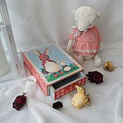 """Подарки к праздникам ручной работы. Ярмарка Мастеров - ручная работа шкатулка-пенал """"Братцы кролики"""". Handmade."""