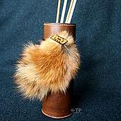 Для дома и интерьера handmade. Livemaster - original item Interior leather vase