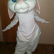 "Дизайн и реклама ручной работы. Ярмарка Мастеров - ручная работа ""Белый заяц"" ростовая кукла. Handmade."