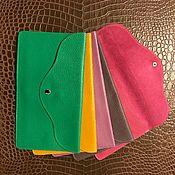 Сумки и аксессуары handmade. Livemaster - original item Soft leather button closure.. Handmade.