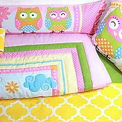 Для дома и интерьера ручной работы. Ярмарка Мастеров - ручная работа Детский комплект в кроватку + шторы. Handmade.