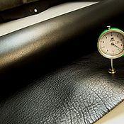 Кожа ручной работы. Ярмарка Мастеров - ручная работа 6001/53 - Чепрак Черный Софти (3,5+). Handmade.