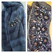 Одежда ручной работы. Ярмарка Мастеров - ручная работа вышивка по меху. Handmade.