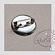 """Для украшений ручной работы. Ярмарка Мастеров - ручная работа. Купить Основа для броши 23 мм  """"значок"""" цвет - серебро.. Handmade."""
