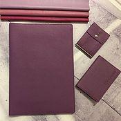 Канцелярские товары handmade. Livemaster - original item A4 genuine leather document organizer. Handmade.