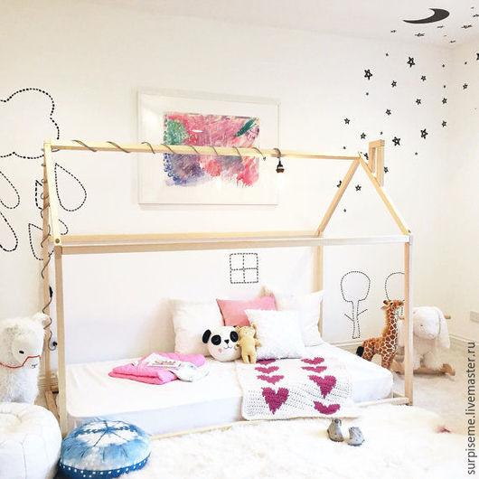 Мебель ручной работы. Ярмарка Мастеров - ручная работа. Купить Дом кровать для детей. Handmade. Кровать, кровать из массива, домик