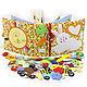 Развивающие игрушки ручной работы. Заказать Развивающая книжка из ткани (1-4 year). Елена (minimoms). Ярмарка Мастеров. Для детей