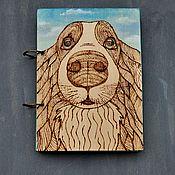 """handmade. Livemaster - original item Notepad A5 """"Sky in eyes"""". Handmade."""